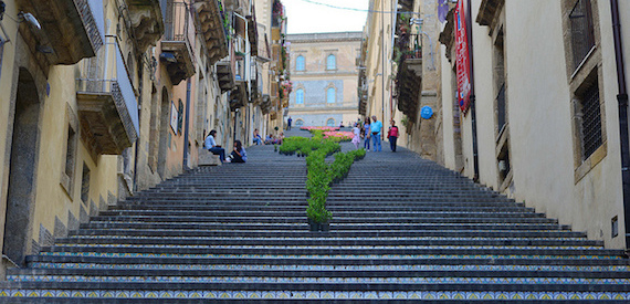 Caltagirone: decorated staircase 2016