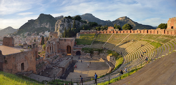 Taormina Greek theatre story